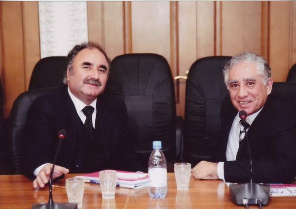Руководитель Секретариата МСД - Каримов Б.Б. и Министр транспорта и коммуникаций Республики Таджикистан - Бобоев О.Б.