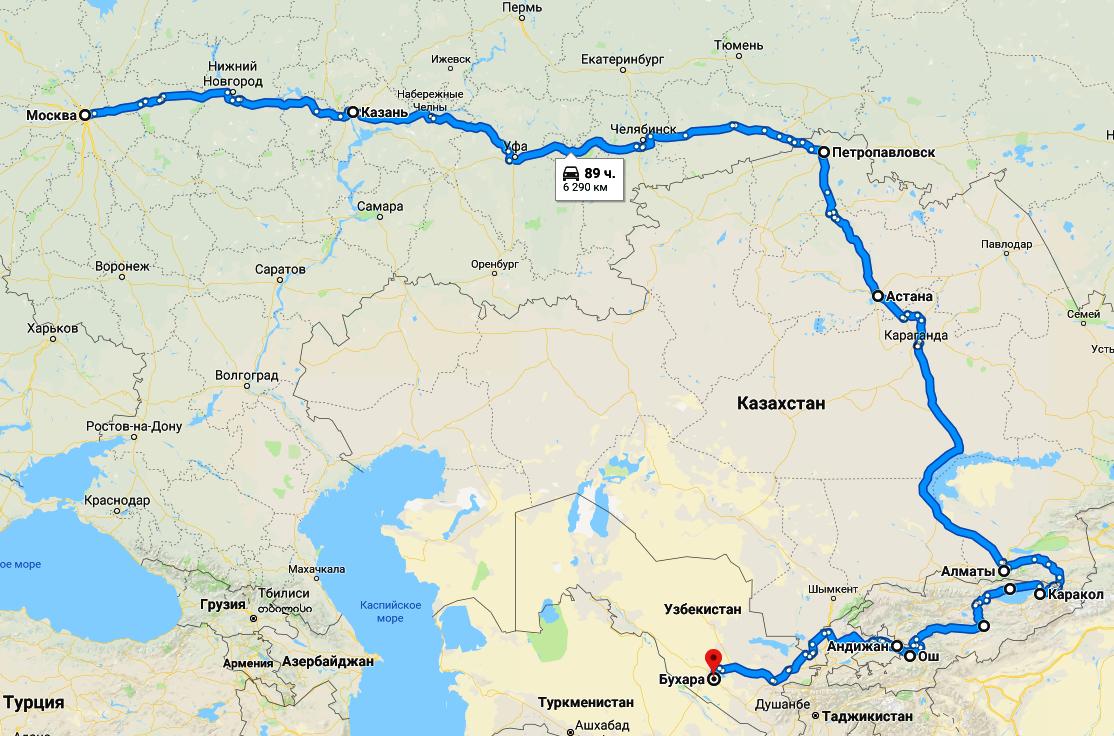 Карта маршрута автопробега_2018_1